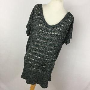 Torrid 3 3X Sweater Navy Blue Loose Open Knit